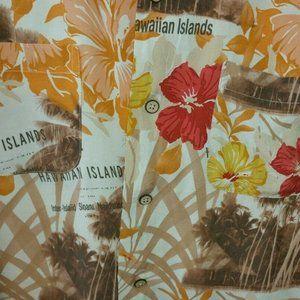 Burma Bibas Hawaiian Islands Palm Trees Hibiscus